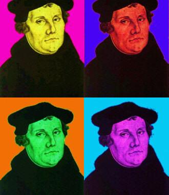 Luther bei Kerzenschein